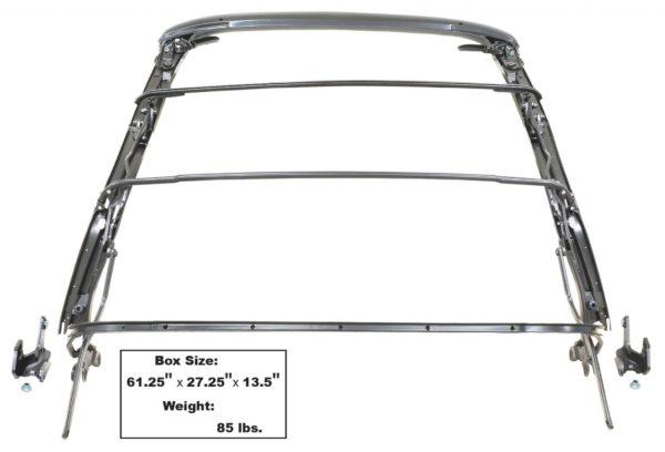 1000 1967 - 1969 Firebird Convertible Top Frame Assembly - Power Top