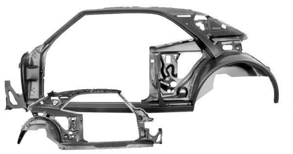 1021B 67 Firebird Coupe QuarterDoor Frame Assembly - LH