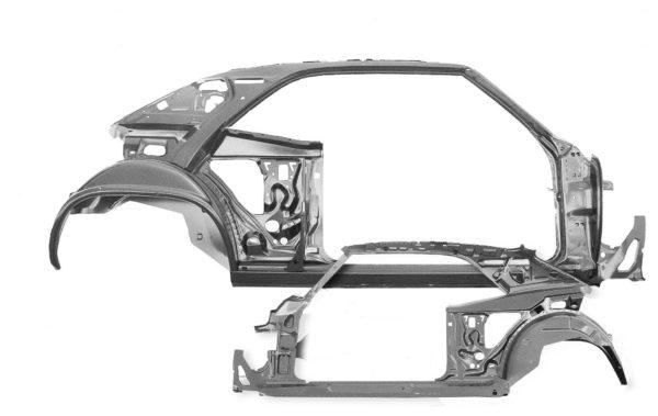 1023A 1969 Firebird Quarter Door Frame Assembly - RH
