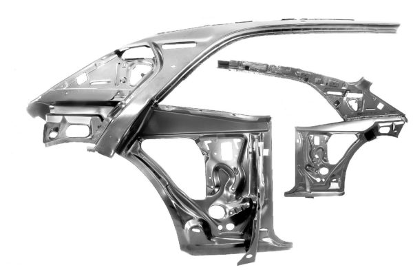 1023E 1967 - 1969 Firebird Quarter Door Inner Frame Assembly - RH