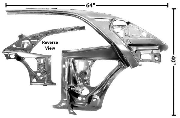 1023F 1967 - 1969 Camaro Quarter Door Inner Frame Assembly - LH