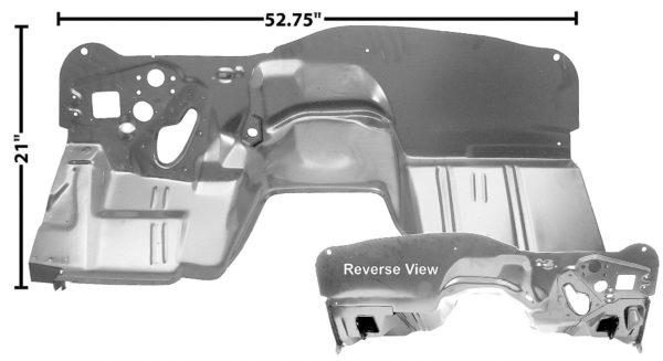1046H 1968 - 1969 Camaro Firewall With Heater
