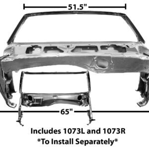 1073G 1969 Convertible - Windshield Cowl Assembly