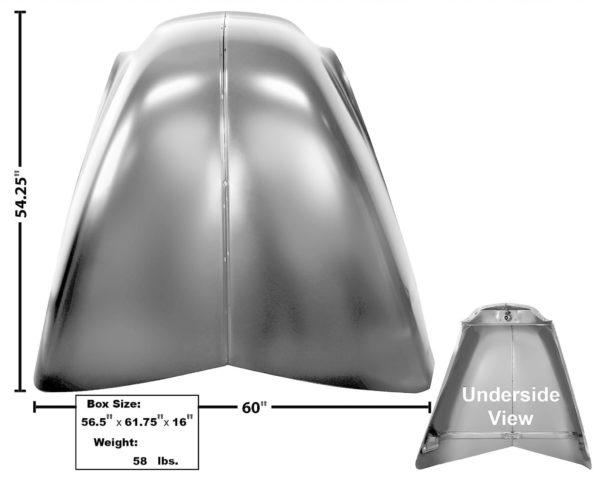 1099TN - 47 - 52 Custom Hood - No Emblem Holes
