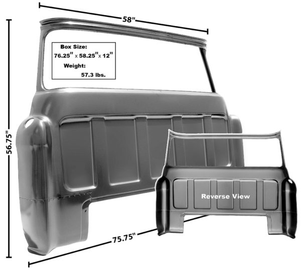 1107D - 55 - 59 Cab Rear Outer Panel - Big Window