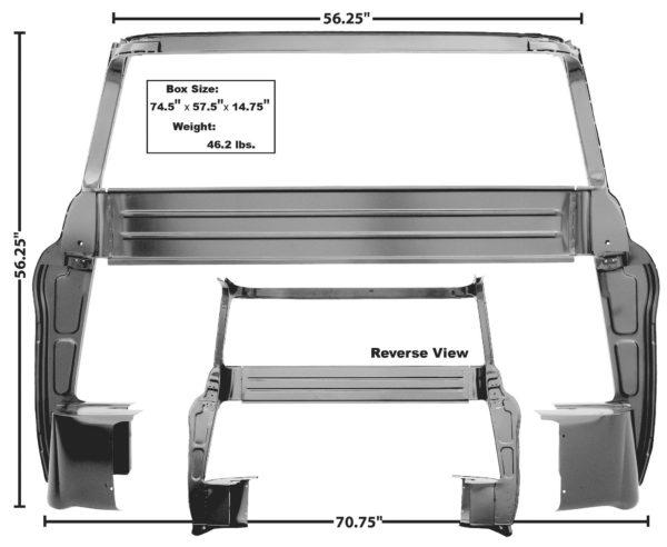 1107X - 55 - 59 Cab Rear Inner Panel - B Pillar