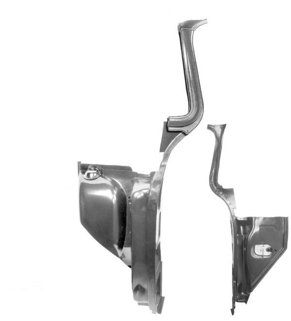 1107Z 1955 - 59 Cab Inner Kick Panel Assembly - LH-R