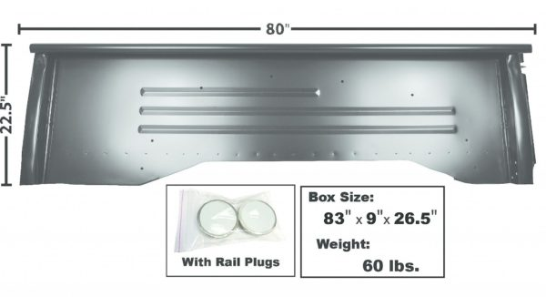 1160DB 1954 Chevy Truck Bedside Panel – LH Side