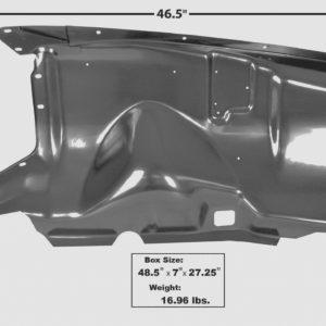 3082 1953 – 1956 Ford Truck Inner Fender – RH Side