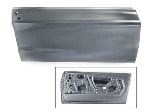 3640W 67-68 Door Shell - RH With Double Sized Reinforcement - Bar