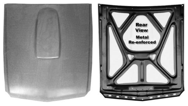 3641AF 65-66 SMC Hood With Steel Back