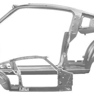 3644FWT 65-66 Fastback - QuarterDoor Frame Assembly With Weld Through Primer - LH