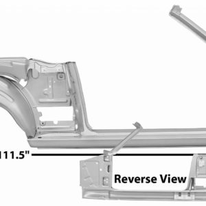 3645NWT 65-66 Quarter Door Frame Assembly - Convertible With Weld Through Primer - RH