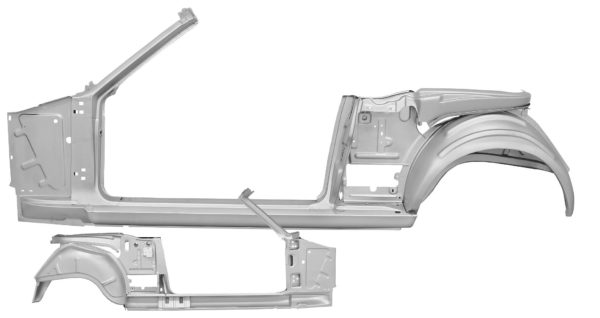 3645PWT 65-66 Quarter Door Frame Assembly - Convertible With Weld Through Primer - LH DONE