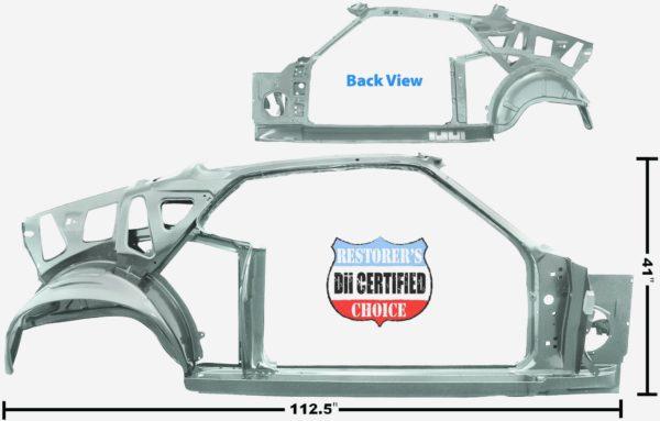 3645RWT 1969 Fastback Quarter Door Frame Assembly With Weld Through Primer - RH