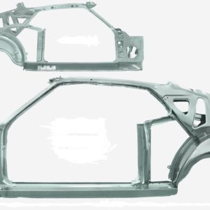 3645SWT 1969 Fastback Quarter Door Frame Assembly With Weld Through Primer - LH