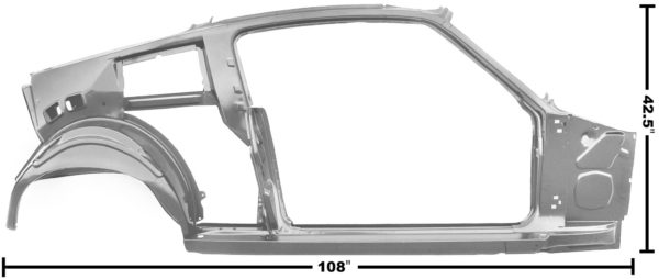 3645TWT 67-68 Fastback Quarter Door Frame Assembly With Weld Through Primer - RH