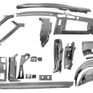 3645UA 67-68 Fastback Quarter Door Frame Assembly Component Kit - LH