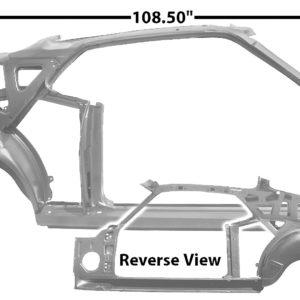 3645YWT 1970 Fastback Quarter Door Frame Assembly With Weld Through Primer - RH