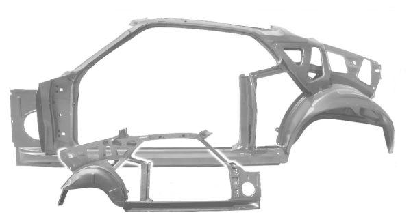 3645YZWT 1970 Fastback Quarter Door Frame Assembly With Weld Through Primer - LH