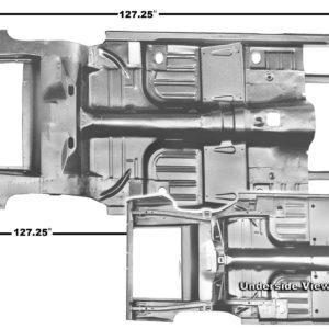 3648SWT 65-68 Convertible Complete - Floor & Trunk Pan
