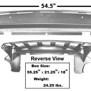 3661CWT 1965-66 Fastback Trunk Divider Support With Weld Through Primer