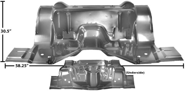 6071WT 1970 Transition - Rear Seat Floor Pan - Weld T