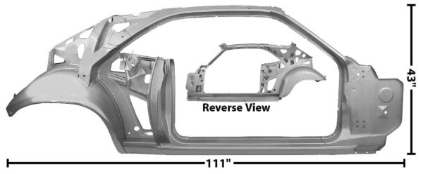 6098WT 1970 Quarter and Door Frame Ass - W Through - RH